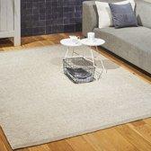 Wollen Vloerkleed - Industrieel Scandinavisch Design - Modern Vloer Tapijt - Beige/Creme 170x230 Groot