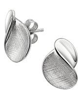 The Jewelry Collection Oorknoppen Poli/gescratcht - Zilver Gerhodineerd