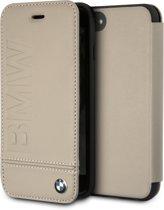 BMW Leren Boekmodel iPhone 8 / 7 / 6S / 6 - Taupe