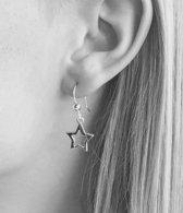 Zilveren oorbellen Star