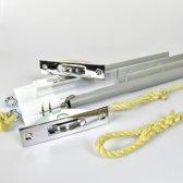 Schuifraamveren 45-47kg, 800mm, chroom vierkant (houtje touwtje)