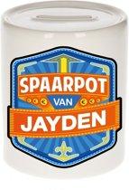 Kinder spaarpot voor Jayden - keramiek - naam spaarpotten