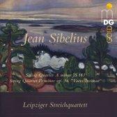 "Jean Sibelius: String Quartet a minor JS 183; String Quartet D minor op. 56 ""Voces Intimae"""