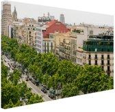 Passeig de Gracia Barcelona Canvas 180x120 cm - Foto print op Canvas schilderij (Wanddecoratie woonkamer / slaapkamer) / Steden Canvas Schilderijen XXL / Groot formaat!