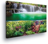 Waterfall Jungle Nature Canvas Print 100cm x 75cm