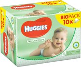 Huggies Natural Care Billendoekjes - 10x 56 doekje