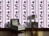 Fotobehang Papier Bloemen, Orchidee   Paars   368x254cm