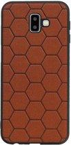 Wicked Narwal | Hexagon Hard Case voor Samsung Samsung Galaxy J6 Plus Bruin