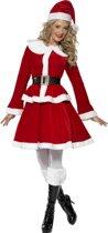 Rood/wit Santa kerstvrouw verkleed kostuum/jurkje voor dames - Kerst verkleedkleding - Kerstmannen/kerstvrouwen - Maat EU 40-42