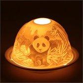 Sfeerlicht Porselein Panda's - 13x13 cm - 300 g