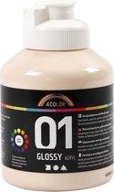 A-color Glossy acrylverf, huidskleur, 01 - glossy, 500 ml