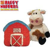 Happy Nappers Koe - Knuffel - Knuffeldier