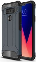 LG V40 Thinq Hybride Hoesje Blauw
