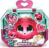 Fur Balls - Pink - Miniknuffel - 3 Assorti