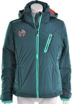 Exxtasy Girona Ladies Snow Jacket - Sportjas - Dames - Maat 40 - Mallard groen;Oranje