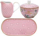Pip Studio - Floral Melk en Suiker set Roze