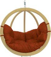 Amazonas Globo Chair Hangstoel - 1 Persoons - Hout - Terracotta Kussens