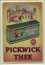 Douwe Egberts reclame Pickwick Thee Groen reclamebord 10x15 cm