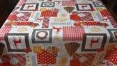 PVC Tafellaken - Tafelkleed - Tafelzeil - Kerstmis - Feestdagen - Opgerold op koker - Geen plooien - Duurzaam - 140 cm x 250 cm - Merry Christmas