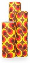 Cadeaupapier Deluxe Retro - Rol 30cm - 200m - 80gr | Winkelrol / Apparaatrol / Toonbankrol / Geschenkpapier / Kadopapier / Inpakpapier