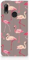 Huawei P Smart (2019) Uniek Standcase Hoesje Flamingo