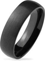Ringen Mannen - Ring Dames - Ringen Dames - Ringen Vrouwen - Zwarte Ring - Heren Ring - Ring - Van Titanium - Brush