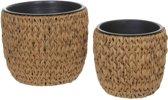 Mica Decorations Grimes mand bruin set van 2 afmetingen in cm: 27 x 38 en 34 x 44