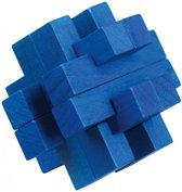 Moses Be Clever! Houten Smartpuzzel Blauw 6 Cm