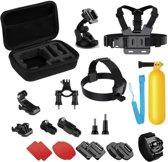 YONO 17in1 Accessoires Set voor GoPro en Action cam – Borstharnas, Hoofdband, Koffer, Zuignap en meer Onderdelen
