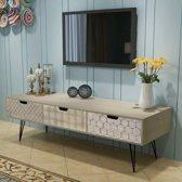 vidaXL Tv-meubel met 3 lades 120x40x36 cm grijs