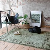 Vintage vloerkleed - Wonder Groen/Zwart 140x190cm