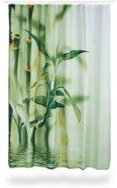 relaxdays douchegordijn bamboe stengels uit polyester, wasbaar, 180 x 200 cm,
