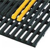 Anti slip zware zwarte industrie mat 900 mm Zwart / Geel