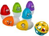 Bowling set voor kinderen gezichtjes