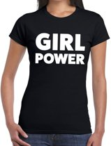 Girl Power tekst t-shirt zwart dames - dames shirt  Girl Power M