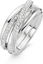 TI SENTO Milano Ring 12056ZI - Maat 54 (17,25 mm) - Gerhodineerd Sterling Zilver