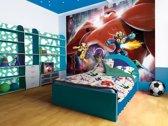 Fotobehang Papier Disney, Big Hero 6 | Geel | 368x254cm