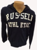 Russell Hoody met rits Navy/Wit