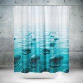 Roomture - douchegordijn - Zen stones - 240 x 200 - extra breed