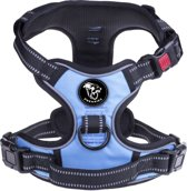 Frenkiez reflective no pull dog harness blue, Large