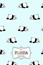 My Panda Journal: Personal Diary for Girls. Blank and Lined Pages with Cute Panda Illustrations, Mood Tracker, Outfit Planner and Highs