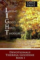 Living in God's Holy Thoughts - Large Print