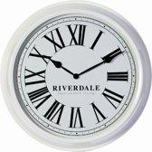 Riverdale Time - Klok - Rond - Metaal - Ø52 cm - Wit