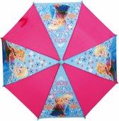 Disney Frozen - Meisjes - Paraplu - Polyester - 92 cm - Roze