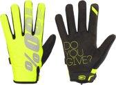 100% Brisker fietshandschoenen geel/zwart Handschoenmaat L