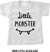 Little Olivia - Little monster - maat 62/68 - Wit