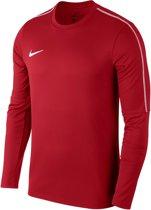 Nike Dry Park 18 Crew  Sportshirt - Maat 128  - Unisex - rood/wit Maat S-128/140