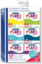 Fimo soft set - colour pack Cool Colours 5 + 1