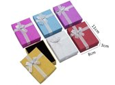 12 stuks Verpakkings doosjes ketting - Glitters - 11x8x3 cm