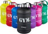 Bluefinity sportfles 2.2 liter - XXL drinkfles - fitness - waterfles - BPA-vrij - bidon zwart